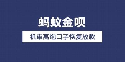 【蚂蚁金呗】小西天/钱币币系列机审高炮口子恢复放款(附申请入口)