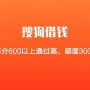 【搜狗借钱】芝麻分600以上通过高,人均额度3000起